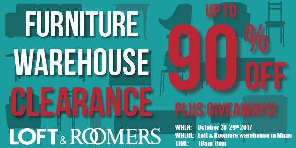 Loft & Roomers store lagersalg starter snart, 28. – 29. oktober