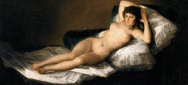 Francisco de Goya (1746-1828): Den påkledte maja/Den nakne maja