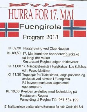17 mai fuengirola program