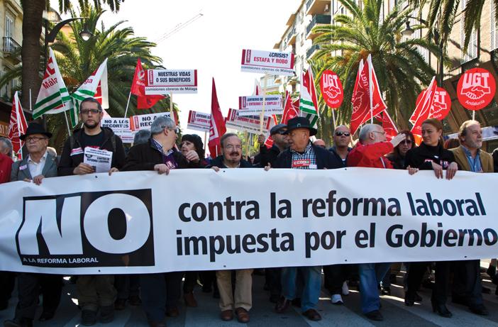 Demonstrasjon Malaga 19. febr. 2