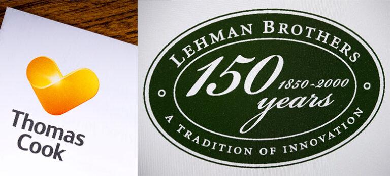 På den annen side…  Er Thomas Cook en ny Lehman Brothers?