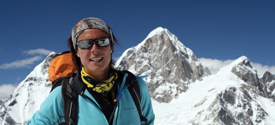 Spansk fjellklatrer nesten på toppen