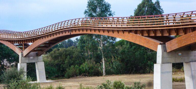 Den lekre gangbroen over Guadalhorce-deltaet har åpnet