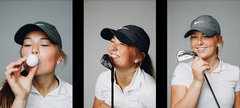 Fra snø til gress – nå vil Julie (19) bli golfstjerne!