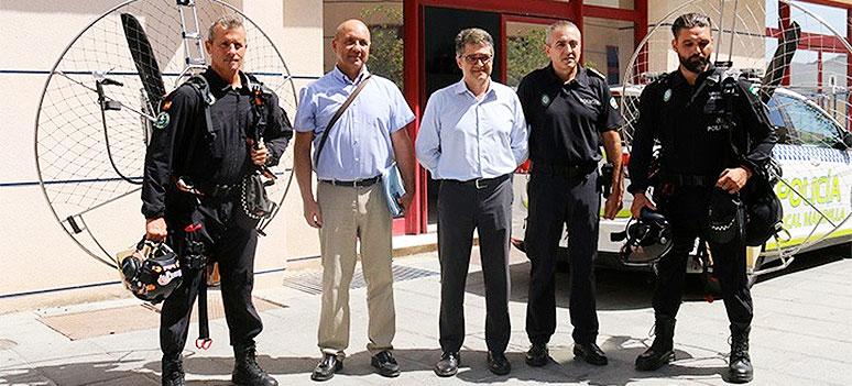 policia marbella paramotors