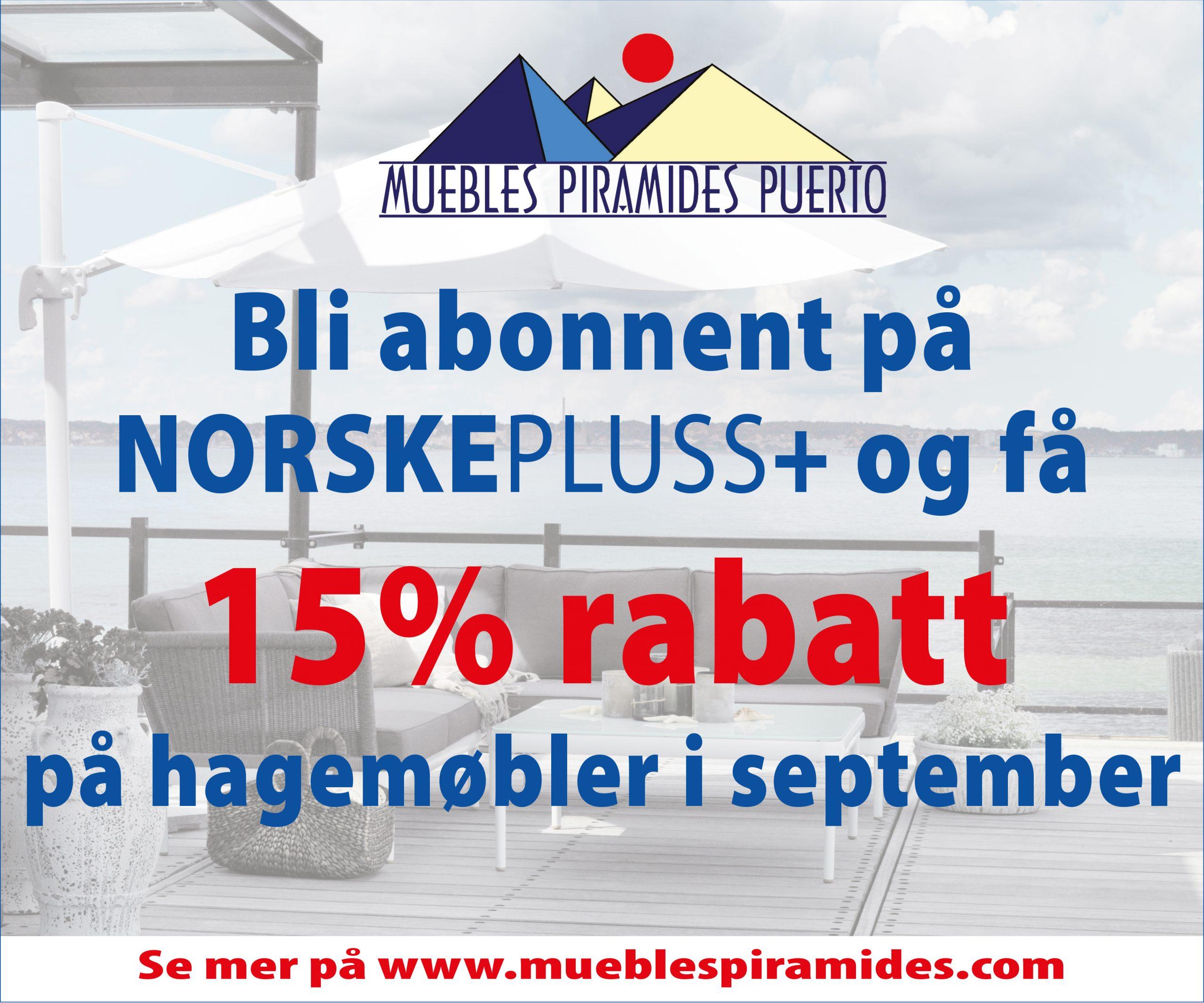 15% rabatt på hagemøbler i september