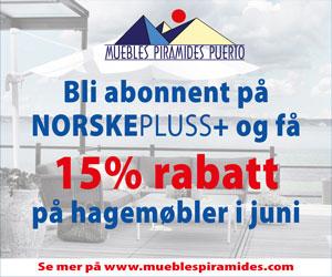 15% rabatt på hagemøbler i juni