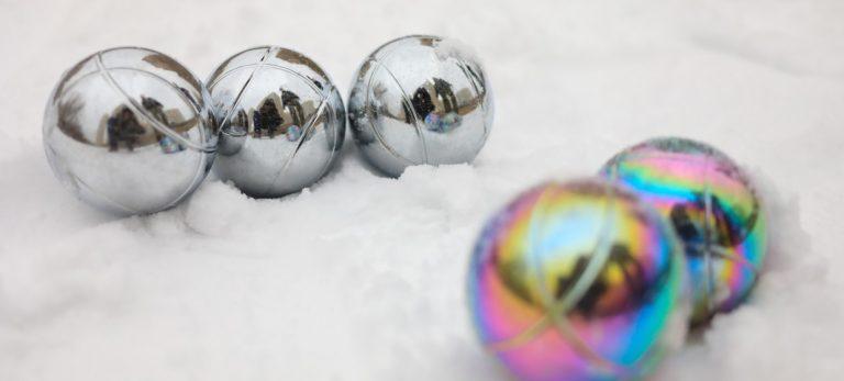 Boule på vinterføre