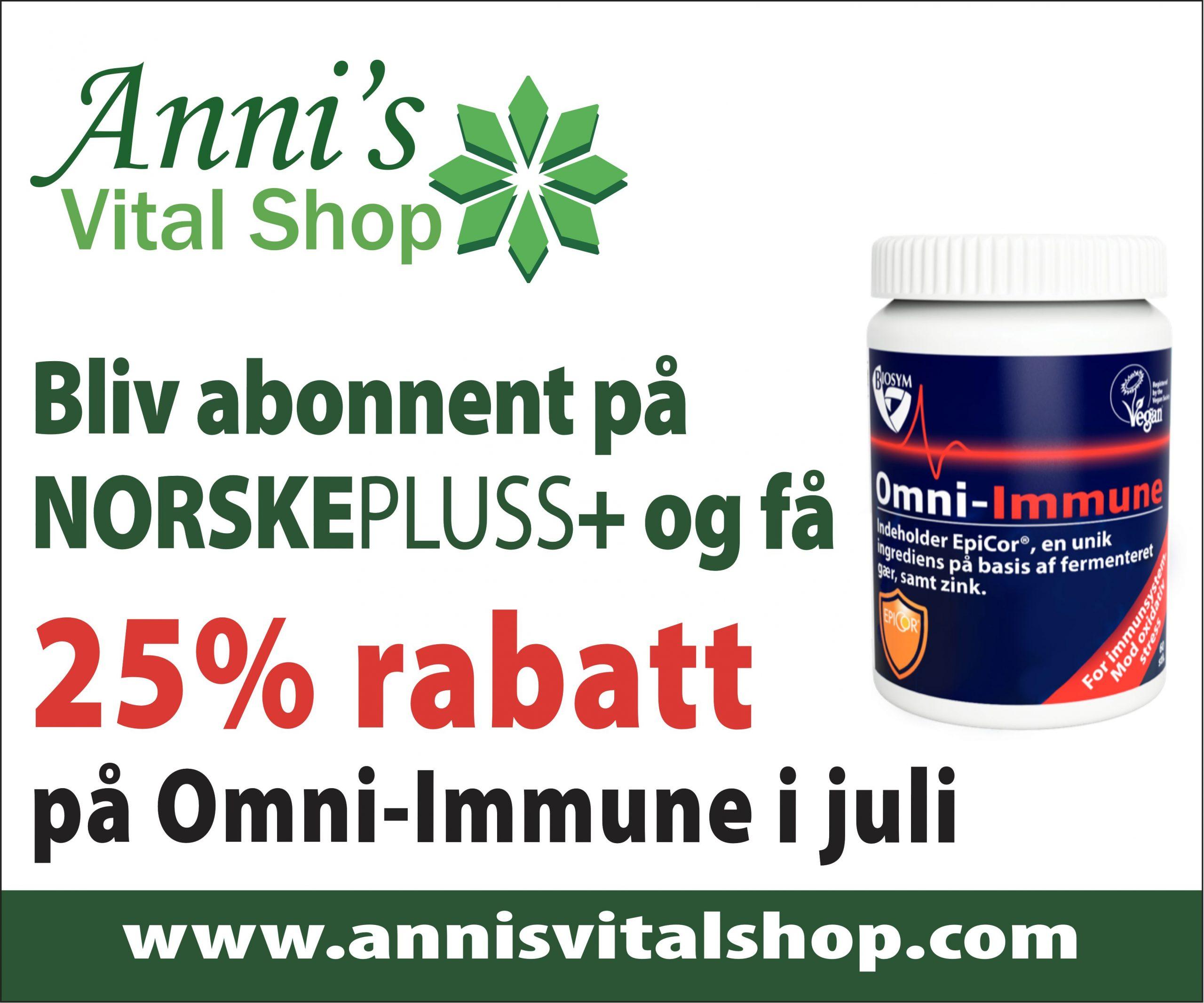 25% rabatt på Omni-Immune i juli